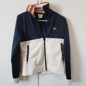 Lacoste Jackets & Coats - Lacoste red white and blue track jacket